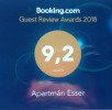 Booking.com Guest Review Awards 2018 - 9,2 out of 10 - Aparamán Esser